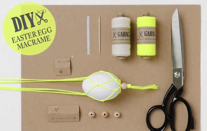 DIY Materialien für Ostereier-Makramee