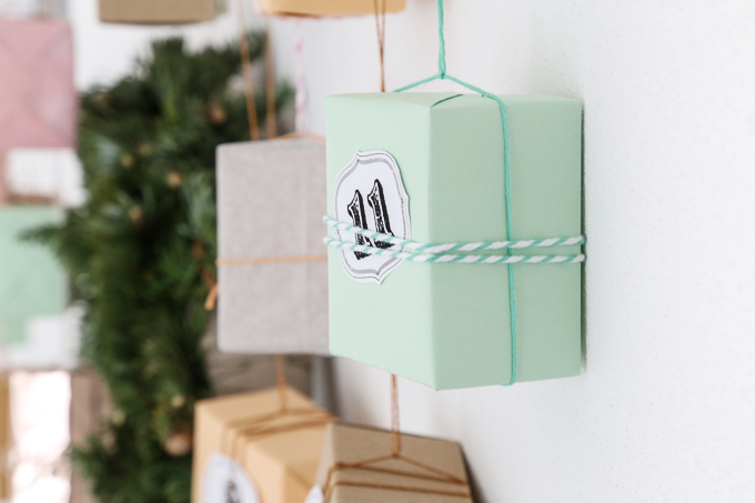Advent calendar in copper + pastel | GARN & MEHR