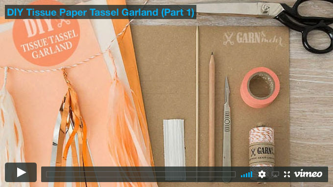 Tissue Tassel - Seidenpapier-Quasten Girlande | GARN & MEHR