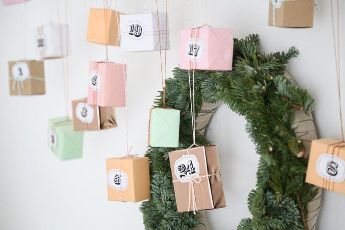 Advent calendar in copper + pastel | GARN & MEHR